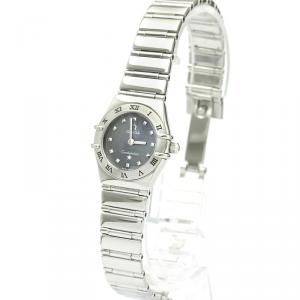 Omega Gray Stainless Steel Constellation 1561.51 Women's Wristwatch 22 MM