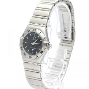 Omega Gray Stainless Steel Constellation 1562.40 Women's Wristwatch 22 MM