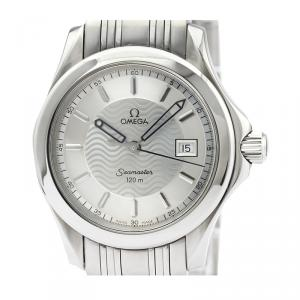 Omega Silver Stainless Steel Seamaster 120M 2571.31 Women's Wristwatch 29MM