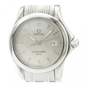 Omega Silver Stainless Steel Seamaster 120M 2571.31 Women's Wristwatch 28MM