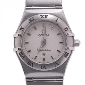 Omega White Stainless Steel Constellation Mini 1562.30 Women's Wristwatch 22 MM
