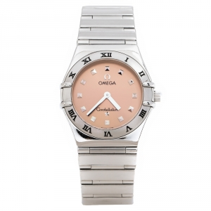 Omega Salmon Stainless Steel My Choice Constellation 795.1241 Women's Wristwatch 24 MM