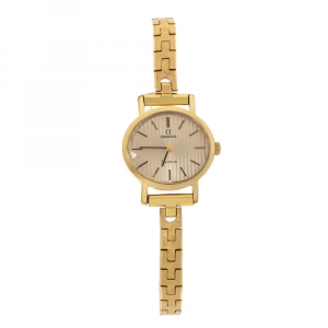 Omega Gold Plated Vintage 5110412 Women's Wristwatch 23 mm