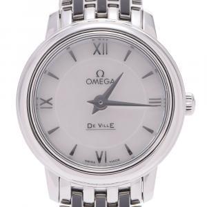 Omega MOP Stainless Steel De Ville Prestige 424.10.24.60.05.001 Women's Wristwatch 24 MM