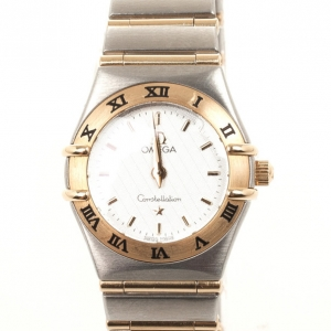 Omega Yellow Gold On Steel Womens Wristwatch 24 MM