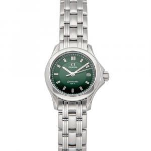 Omega Green Stainless Steel Seamaster 120M 2581.72.00 Women's Wristwatch 28 MM