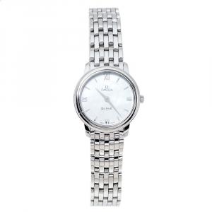 Omega Mother Of Pearl Stainless Steel De Ville Prestige 424.10.27.60.05.001 Women's Wristwatch 27.40 mm
