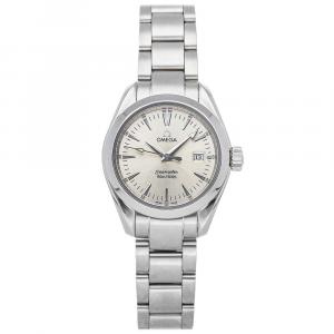Omega Silver Stainless Steel Seamaster Aqua Terra 2577.30.00 Women's Wristwatch 29 MM