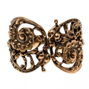 Oscar de la Renta Gold Plated Baroque Scroll Bracelet