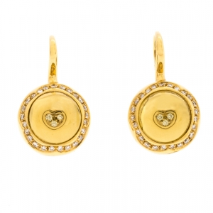 Pasquale Bruni Yellow Cabochon Diamond 18k Yellow Gold Hook Drop Earrings