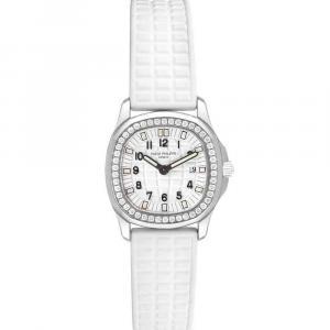 Patek Philippe White Diamonds Stainless Steel Aquanaut 4961 Women's Wristwatch 30 x 28 MM