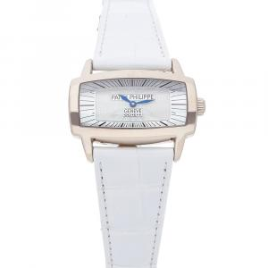 Patek Philippe MOP 18K White Gold Gondolo Gemma 4980G-001 Women's Wristwatch 37 x 22.5 MM