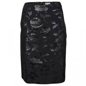 Paul and Joe Black Floral Pattern Lorelei Pencil Skirt L