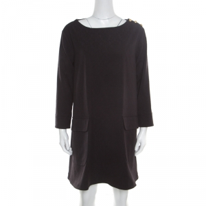 Paul and Joe Black Floral Jacquard Corydale Shift Dress M - used
