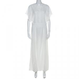 Paul and Joe Cream Multi Lace Tulle Paneled Maxi Dress M