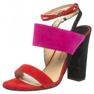 Paul Andrew Tricolor Suede Xiamen Ankle Strap Sandals Size 37
