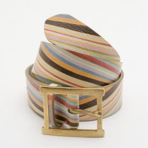 Paul Smith Multicolour Swirl Print Belt
