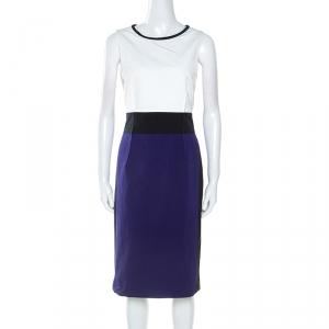 Paule Ka Colorblock Sleeveless Shift Dress XL