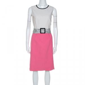 Paule Ka Colorblock Cotton Sleeveless Dress M