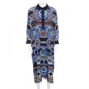 Peter Pilotto Silk Digital Abstract Printed Kaftan Maxi Dress ( One Size ) - used