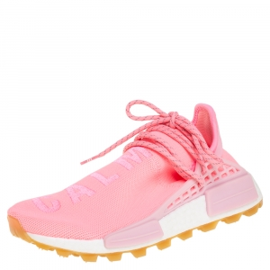 Pharrell Williams x Adidas Pink Knit Fabric HU NMD PRD Sneakers Size 40