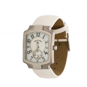 Philip Stein White Mother of Pearl Stainless Steel Signature Women's Wristwatch 27.60 mm
