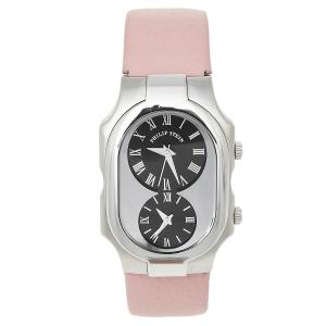 ساعة يد نسائية فيليب ستين شهير جلد ستانلس ستيل أسود 32 مم