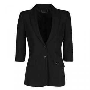 Philipp Plein Couture Black Skull Embellished Blazer S
