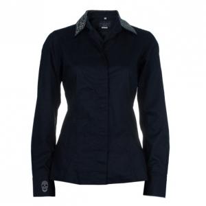 Philipp Plein Black Embellished Collar Shirt M