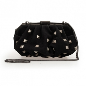 Philippe Roucou Black Isadorable Studded Clutch