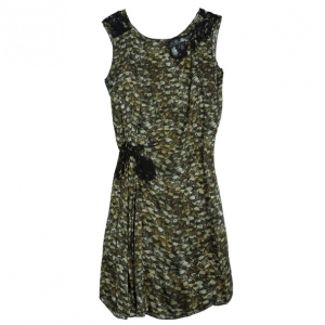 Philosophy Di Alberta Ferretti Lace-Inset Printed Dress S