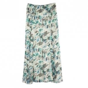 Philosophy di Alberta Ferretti Chiffon Floral Print Maxi Skirt M