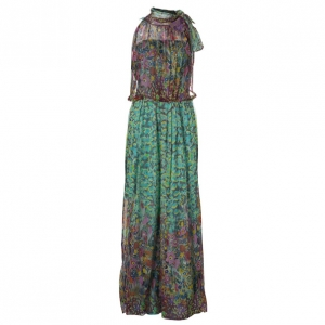 Philosophy Di Alberta Ferretti Multicolor Print  Maxi Dress M