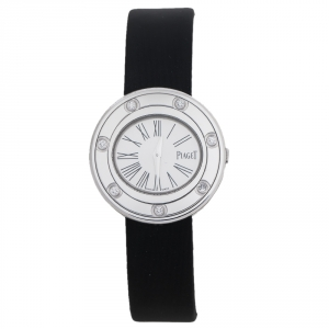 Piaget Silver 18K White Gold Diamond Possesion G0A35085 Women's Wristwatch 29 mm