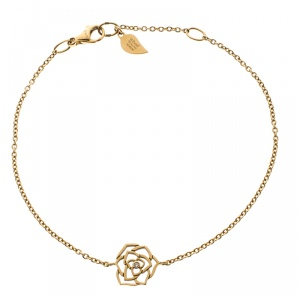 Piaget Rose 18K Yellow Gold And Diamond Bracelet