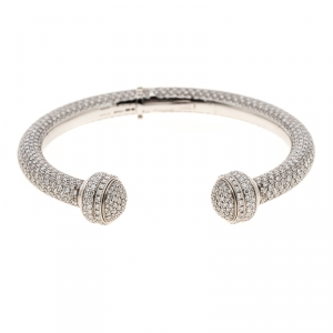 Piaget Possession Diamond Pave White Gold Open Bangle Bracelet