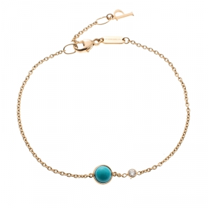 Piaget Possession Diamond Turquoise Bead 18k Rose Gold Bracelet