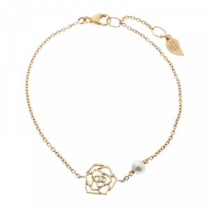 Piaget Rose Diamond & Pearl 18K Rose Gold Bracelet