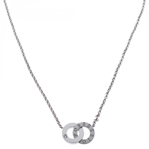 Piaget Possession Toi & Moi Diamond 18K White Gold Necklace