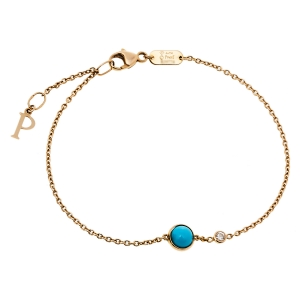 Piaget Possession Turquoise Diamond 18K Rose Gold Bracelet