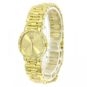 Piaget Gold 18K Yellow Gold Diamond Dancer Women's Wristwatch 23MM