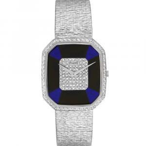 Piaget Diamonds 18K White Gold Vintage Cocktail 9795 Women's Wristwatch 33 x 29 MM