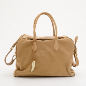 "Pierre Balmain ""Pierre"" Suede Leather Satchel"