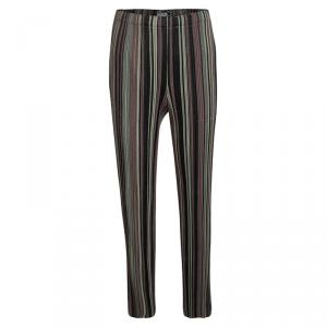 Pleats Please By Issey Miyake Multicolor Striped Elasticized Waist Pants 3XS