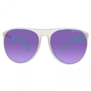 Porsche Design White P8596 Wayfarer Sunglasses