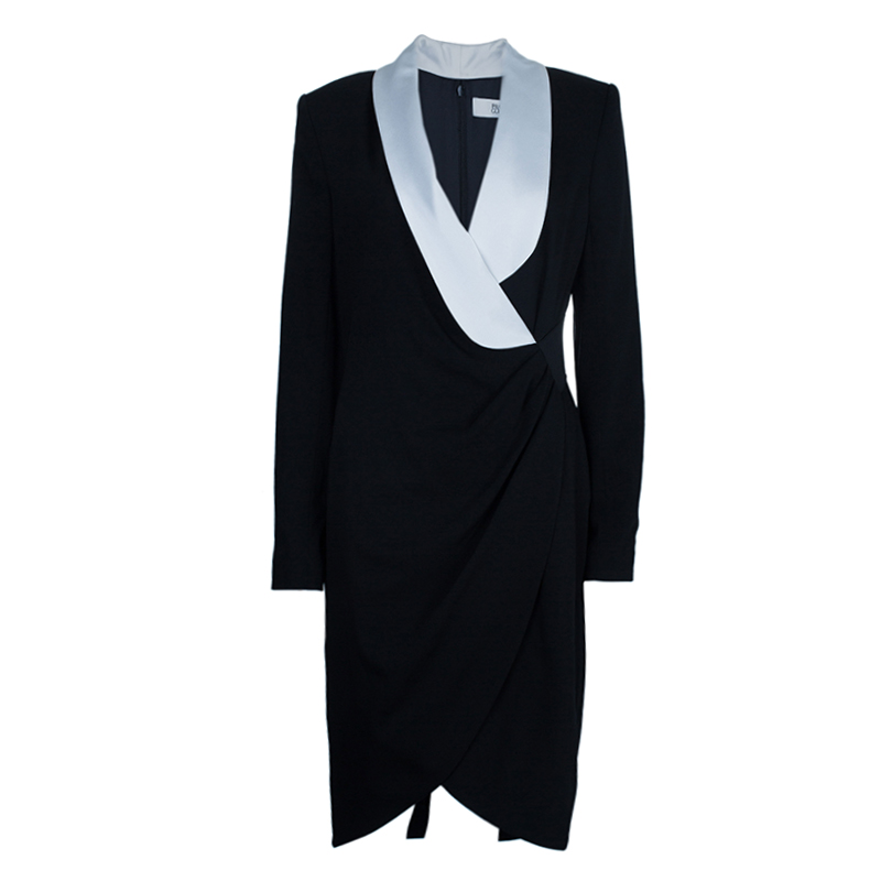 Prabal Gurung Monochrome Tuxedo Dress L