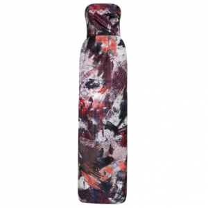 Prabal Gurung Strapless Printed Satin Gown S