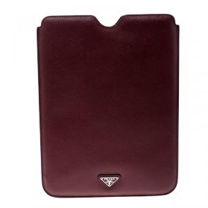Prada Red Saffiano Leather iPad Case