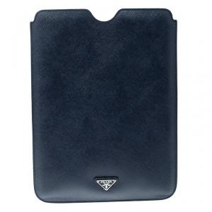 Prada Navy Blue Saffiano Leather iPad Case