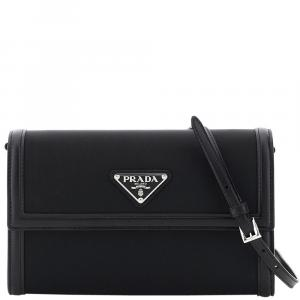 Prada Black Nylon Clutch Bag